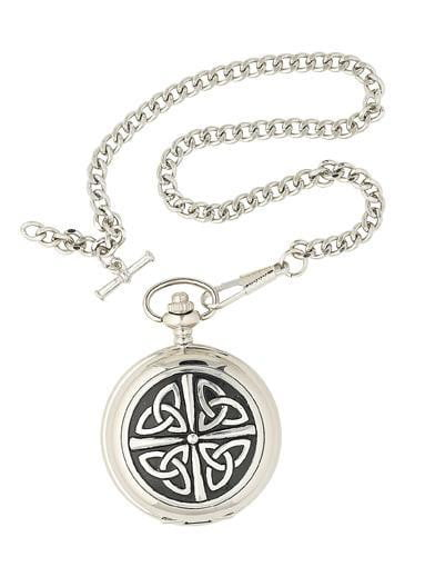 Quartz Half Hunter Pocket Watch - Celtic Design