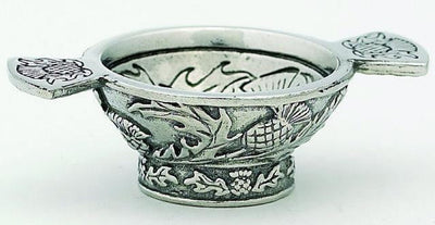 "1.25"" Mini Quaich Bowl - Thistle Design"