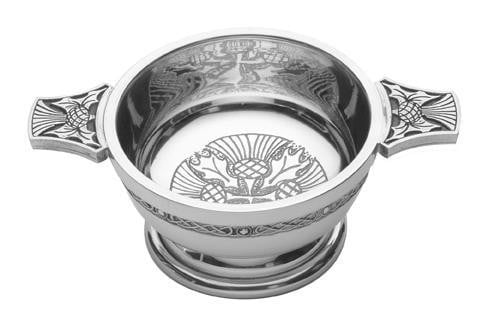 "3"" Quaich Bowl - Thistle Design"