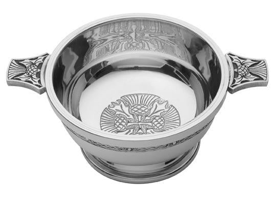 "4"" Quaich Bowl - Thistle Design"