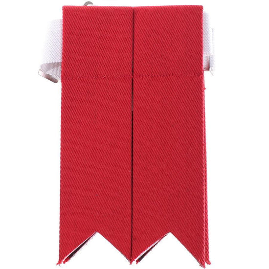 100% Cotton Kilt Flashes - Red