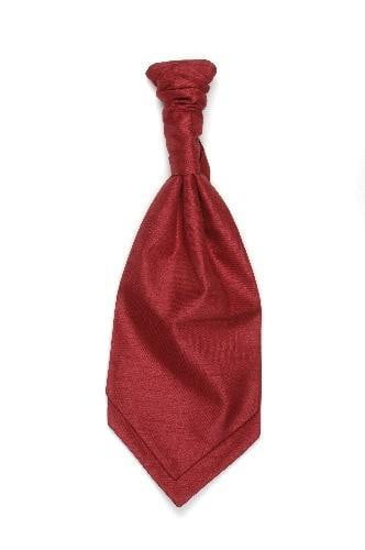 Polyester Shantung Ruche Tie - Red