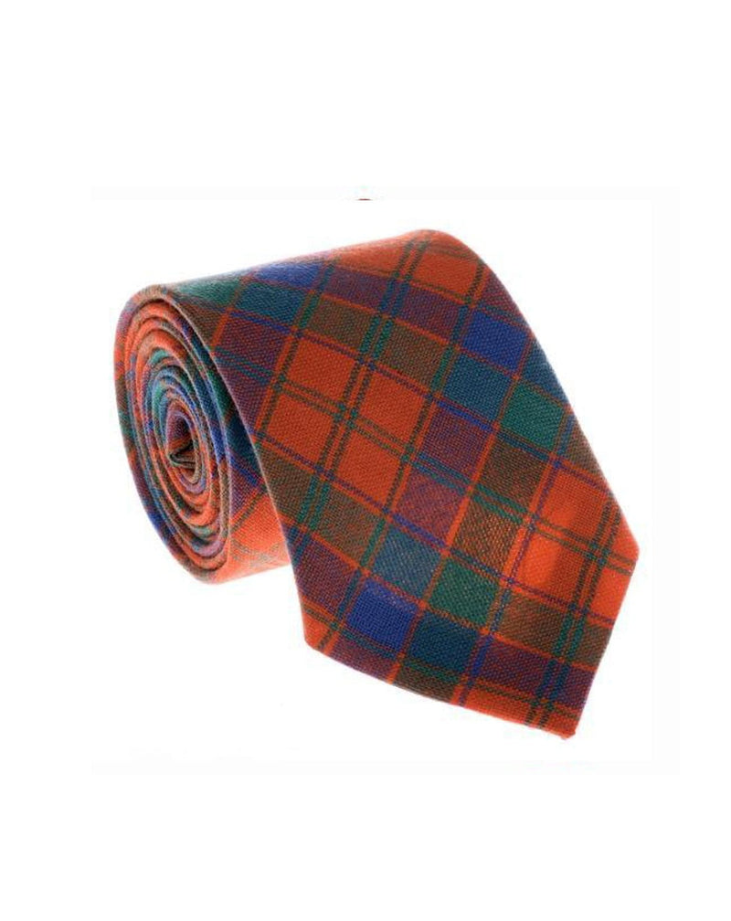 100% Wool Tartan Neck Tie - Robertson Ancient