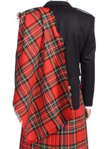 Gents Deluxe 100% Wool Lochcarron Strome Heavyweight Fringed Fly Plaid - Made to Order