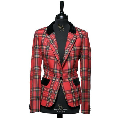 Ladies Tartan Blazer in Royal Stewart
