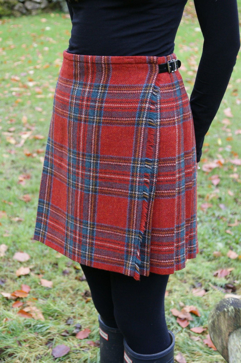 Shetland Wool Ladies Kilt - Flora - Royal Stewart Antique