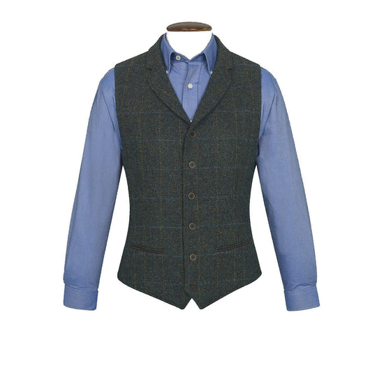 Mens Scarp Harris Tweed Wool Waistcoat