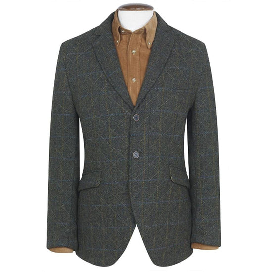 Mens Genuine Shillay Harris Tweed Quilted Jacket