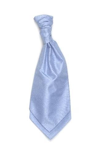 Polyester Shantung Ruche Tie - Sky Blue