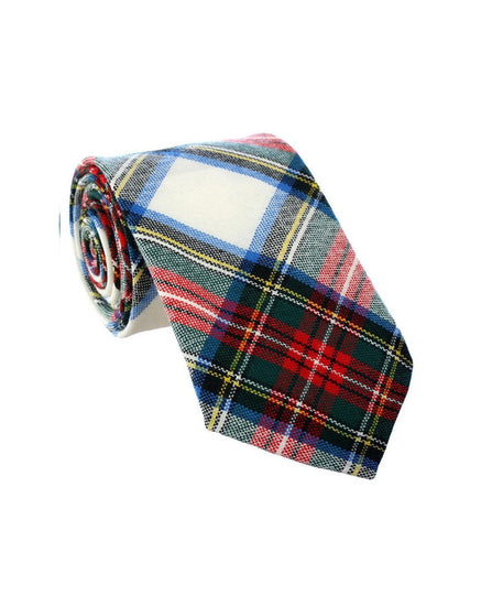 100% Wool Tartan Neck Tie - Stewart Dress Modern