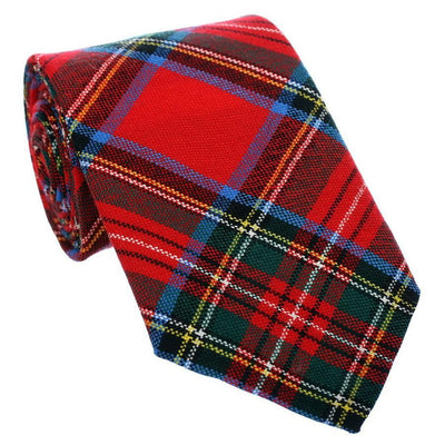 100% Wool Tartan Neck Tie - Royal Stewart Modern