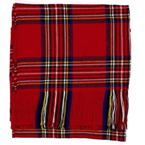 Ladies Acryllic Wool Tartan Sash - Royal Stewart