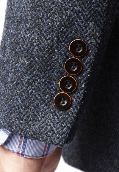 Mens Stranraer Harris Tweed Wool Blazer Jacket