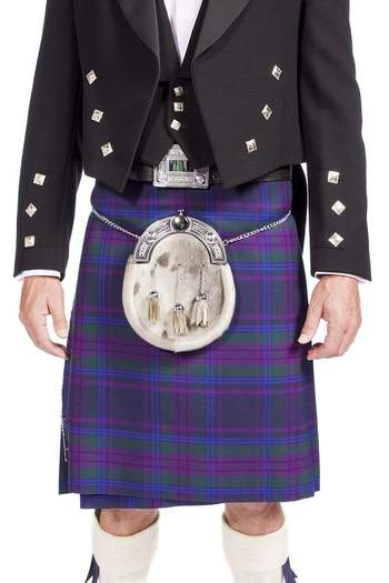 Traditional Prince Charlie Jacket Outfit with 16oz 8 yard Handmade Kilt