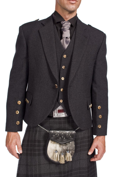Charcoal Tweed Argyle Hire Outfit