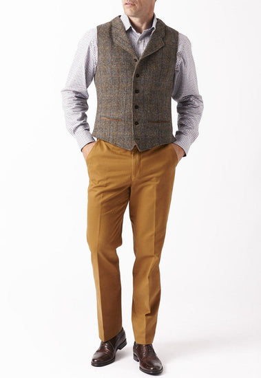 Mens Harris Tweed Wool Waistcoat - Sumburgh