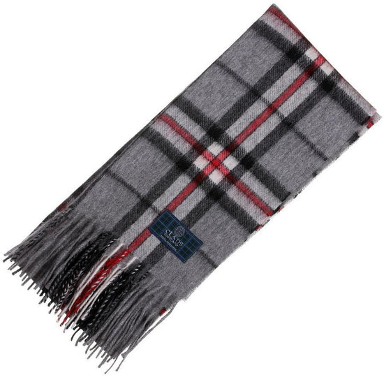 Clan Tartan Scarf - Thomson Grey