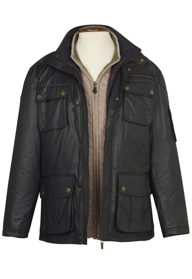 Tiber Dry Wax Casual Coat by Brook Taverner