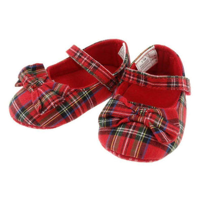 Baby and Infants Royal Stewart Tartan Shoe with Bow