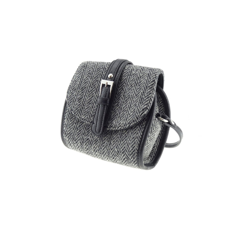 Harris Tweed Small Tyne Mini Bag in Black/White