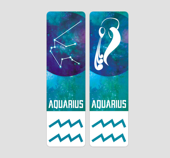 Aquarius Zodiac Bookmark