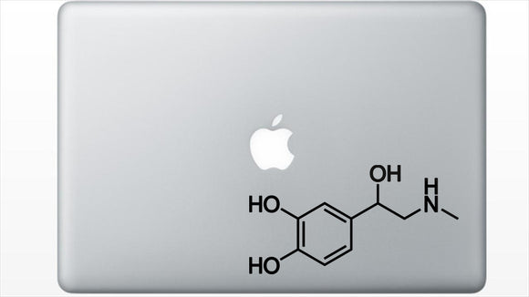 Adrenaline Chemical Structure Decal Sticker