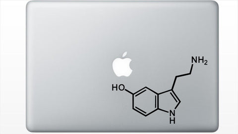 Serotonin Molecule Decal