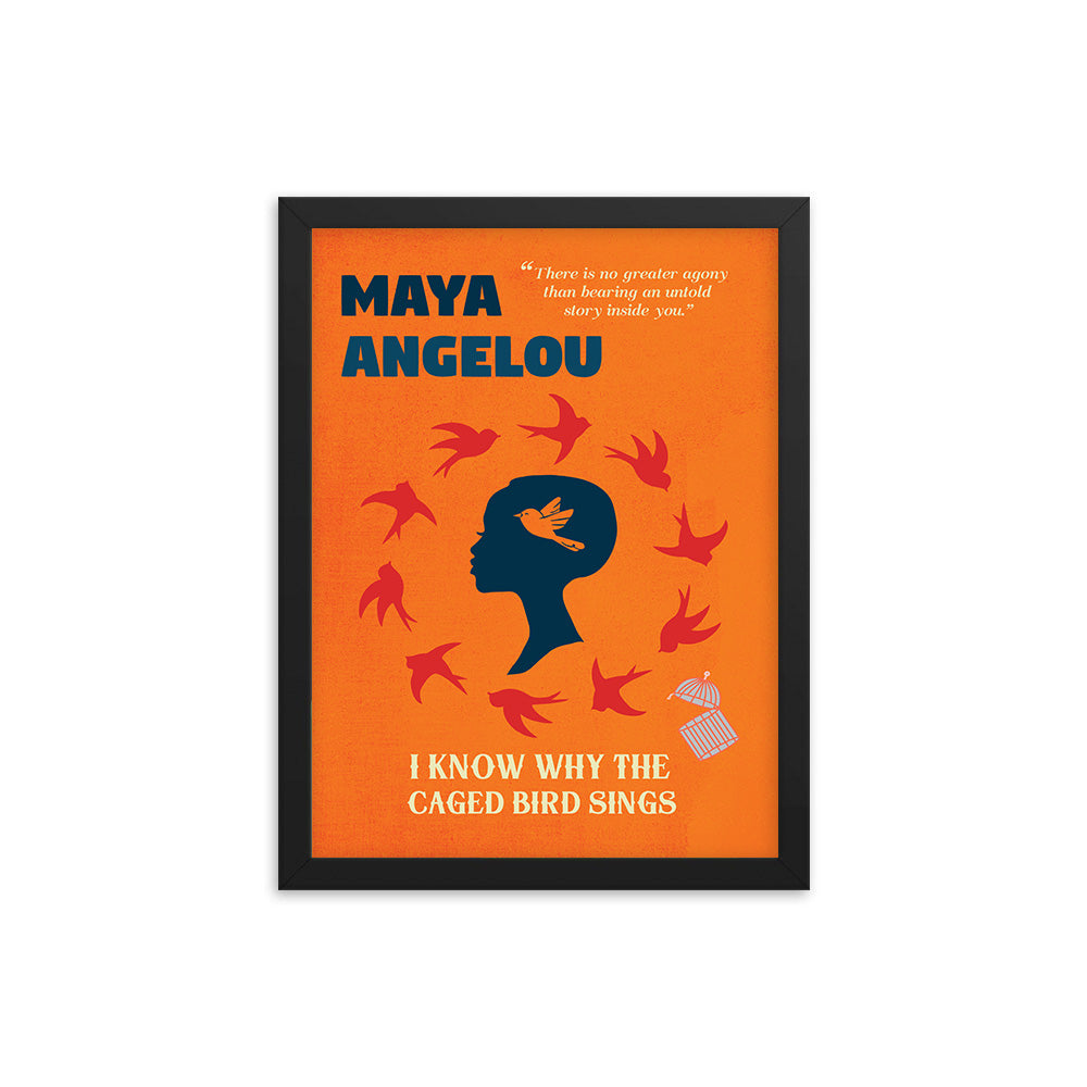 I Know Why the Caged Bird Sings by Maya Angelou Book Poster