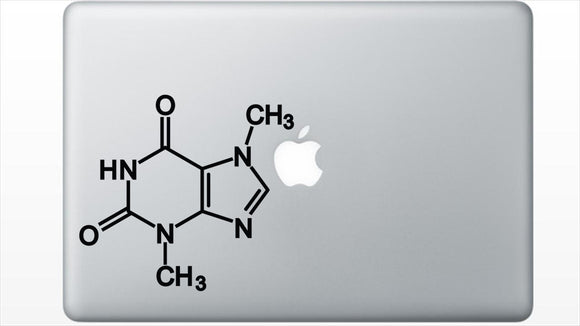 Chocolate Chemical Structure Decal Sticker