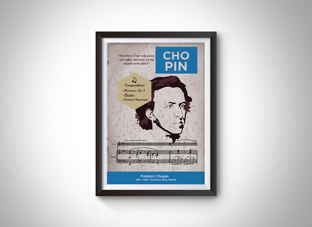 Frédéric Chopin: Classical Composer Poster Wall Art