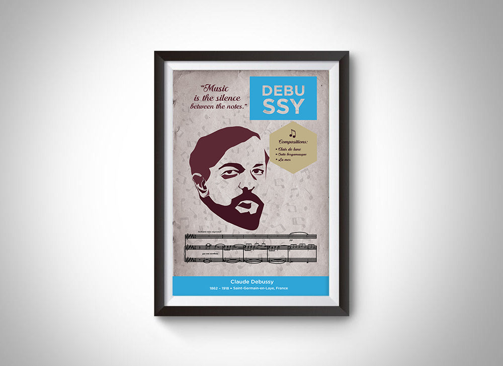 Claude Debussy: Classical Composer Poster Wall Art