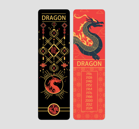 Dragon Chinese  Zodiac Bookmark