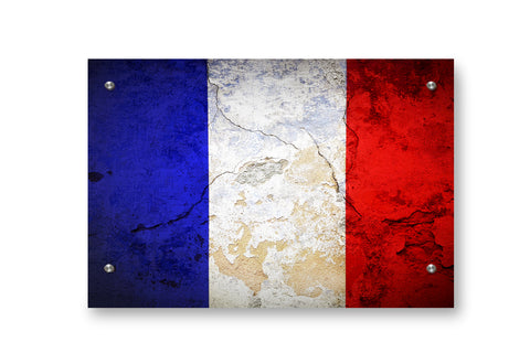 France Flag Printed on Brushed Aluminum