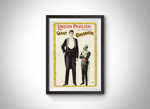 Giant Constantin [at London Pavilion] (1899) Vintage Ad Poster