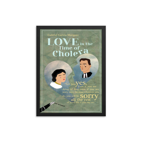 Love in the Time of Cholera by Gabriel García Márquez Book Poster
