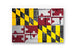 Maryland State Flag Printed on Brushed Aluminum