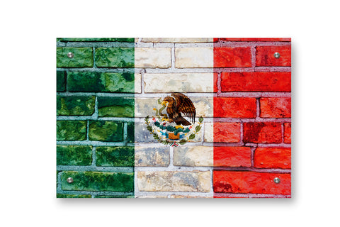 Mexico Flag Graffiti Wall Art