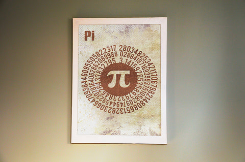 Pi 10,000 Digits Poster wall decor