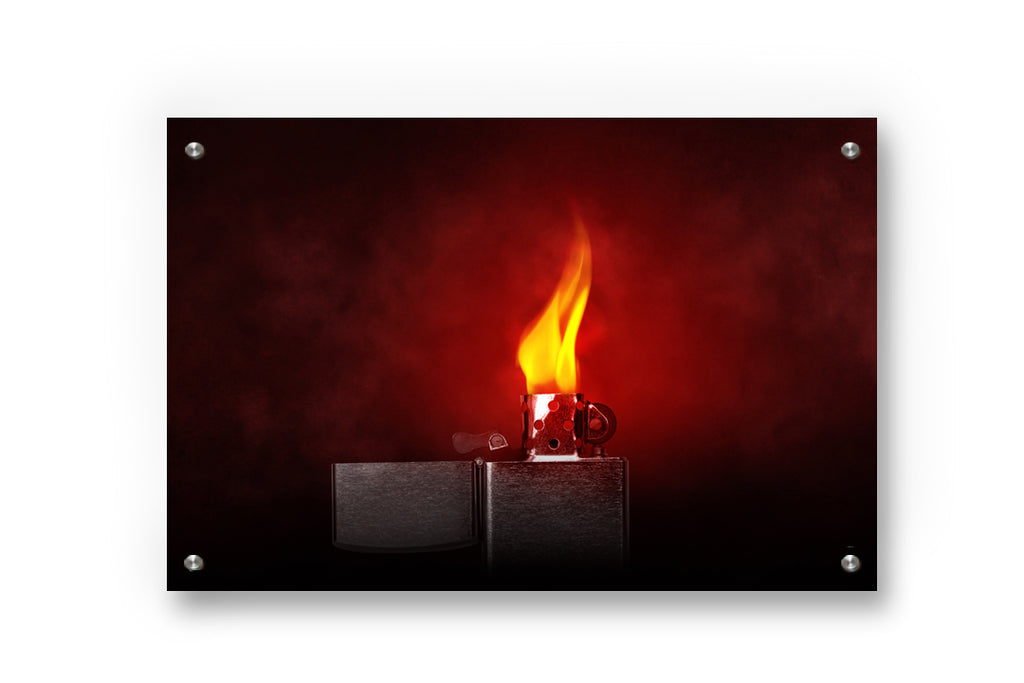 Scarlet Lighter Metal Wall Art Decor printed on Brushed Aluminum