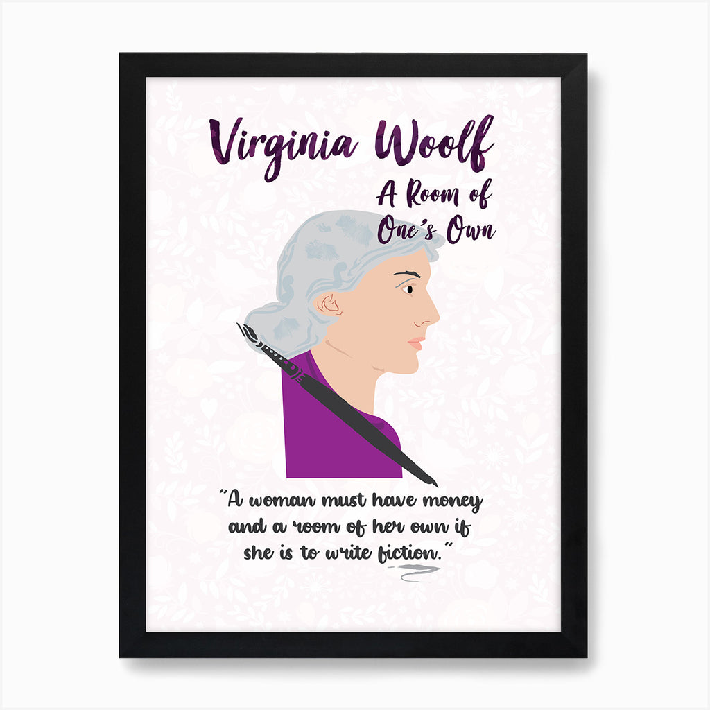 A Room of One's Own by Virginia Woolf Book Poster