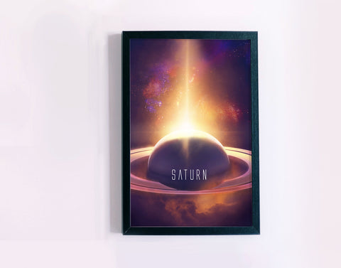 Planet Saturn Poster