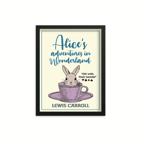 Alice's Adventures in Wonderland by Lewis Carroll Book Poster