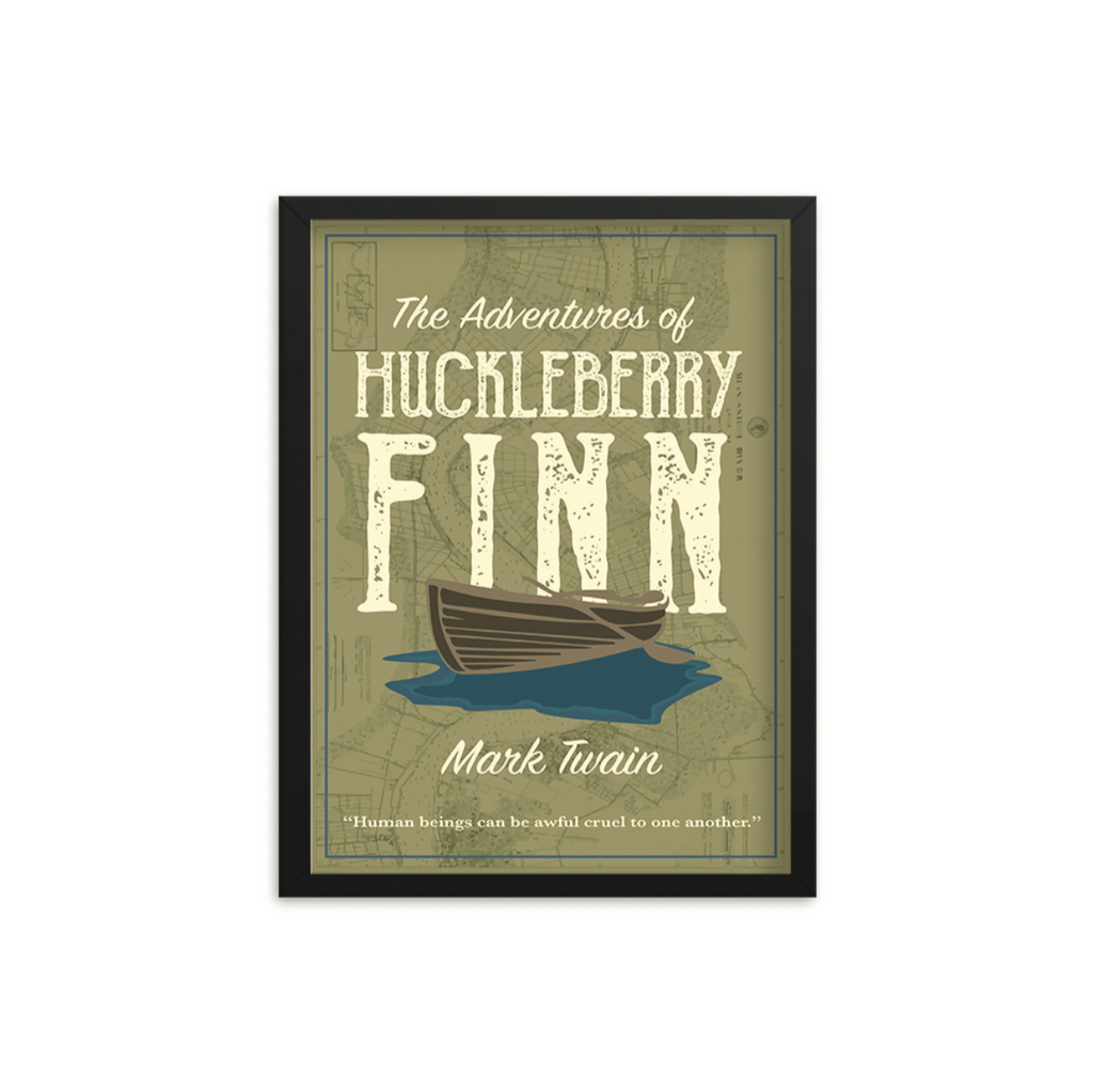 The Adventures of Huckleberry Finn by Mark Twain Book Poster