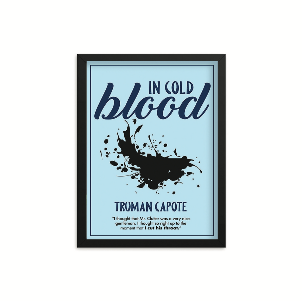 In Cold Blood by Truman Capote Book Poster