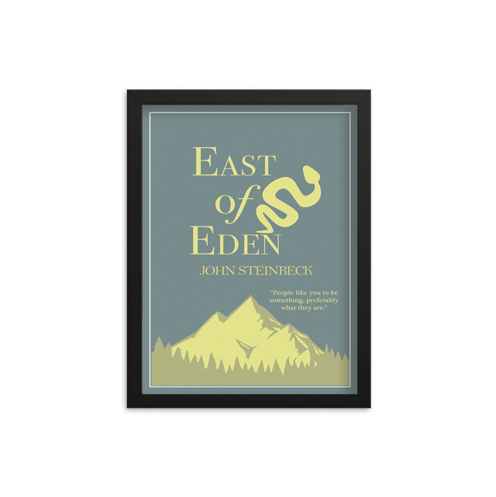 East of Eden by John Steinbeck Book Poster
