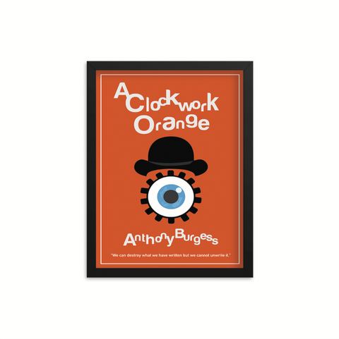 A Clockwork Orange by Anthony Burgess Book Poster
