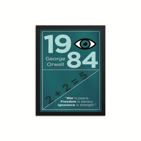 1984 by George Orwell Book Poster