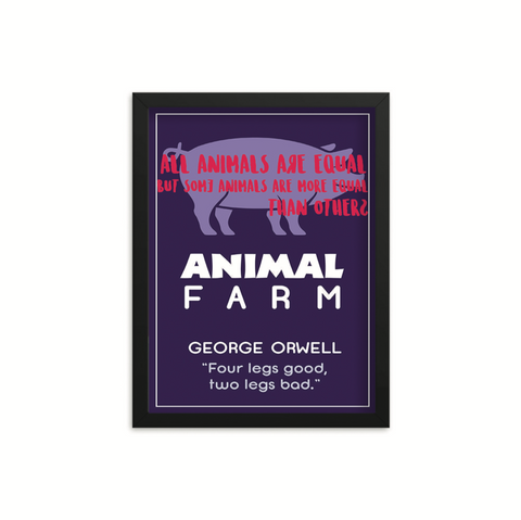 Animal Farm by George Orwell Book Poster