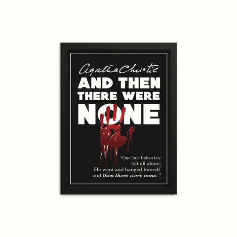 And Then There Were None by Agatha Christie Book Poster