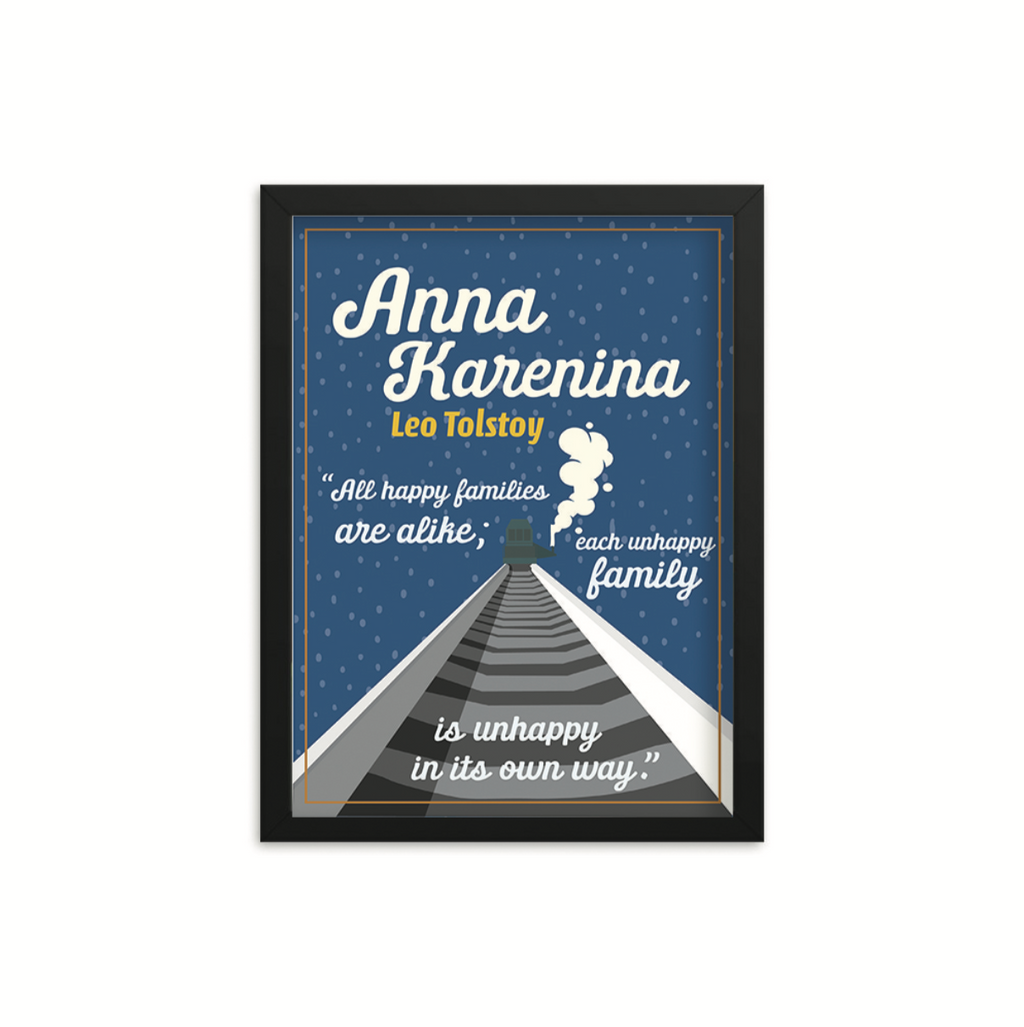 Anna Karenina by Leo Tolstoy Book Poster